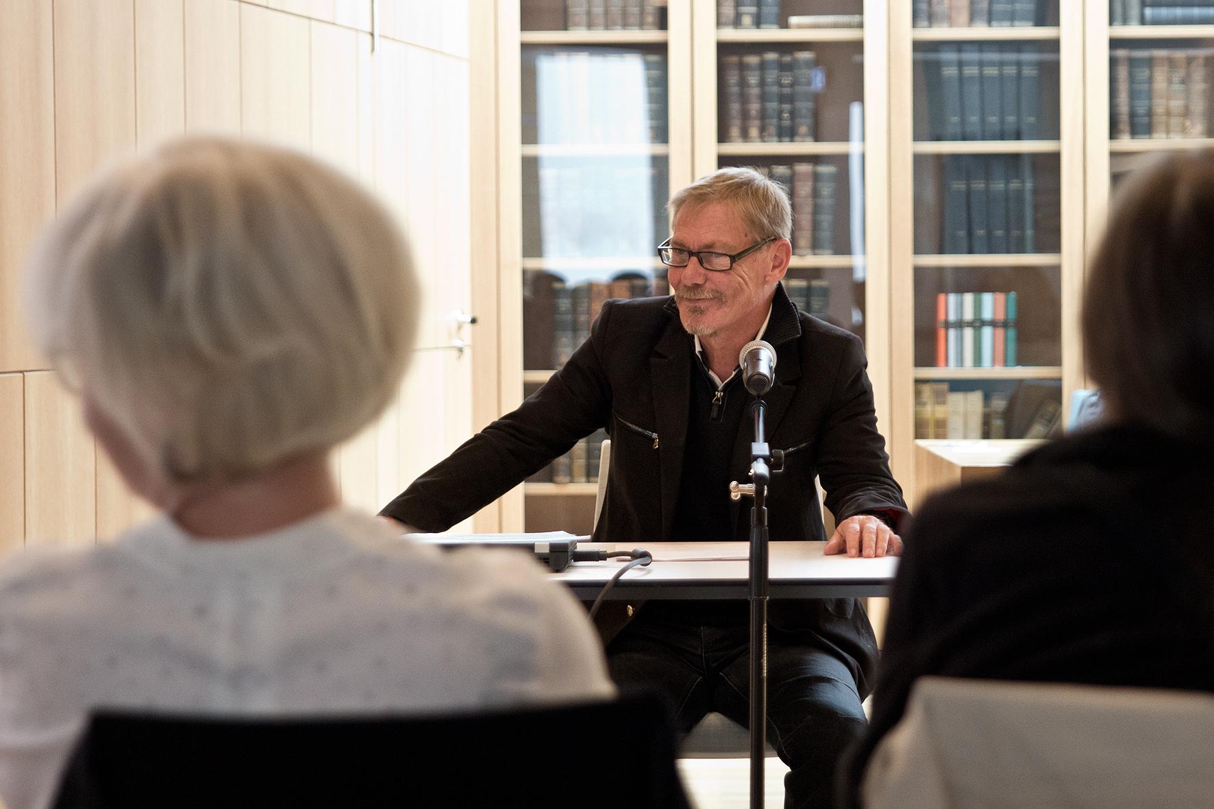 """Gerald Höfer beim """"Fest für die Poesie"""" der Literarischen Gesellschaft Thüringen 2018"""